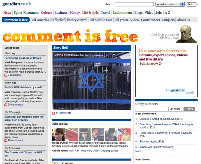 Comment is Free er The Guardian sitt tilnærming til leserjournalistikken.