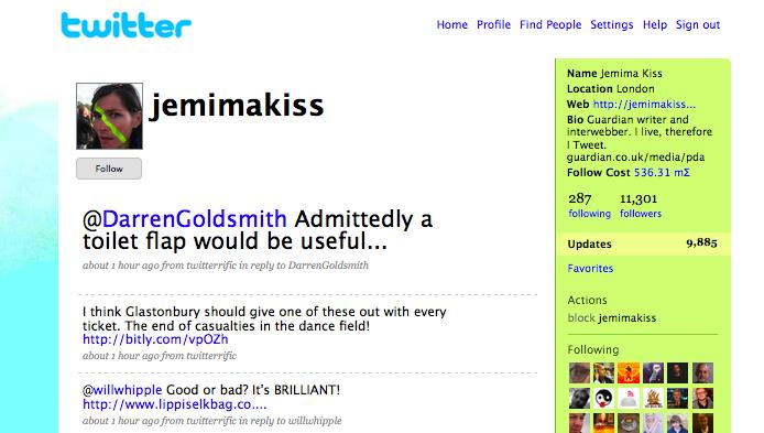 Guardians Jemima Kiss Jemima Kiss har over 11 000 som følger henne og bidrar til journalistikken hennes.